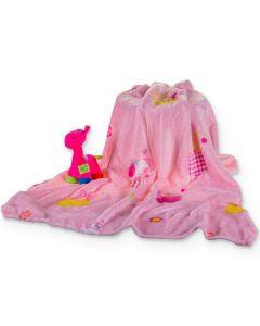 Manta para Bebê 90 x 110cm Dyuri Carinho Jolitex - Rosa