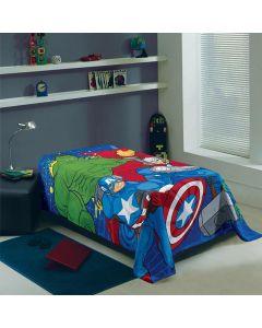 Manta Solteiro Microfibra Fleece Lepper - Avengers