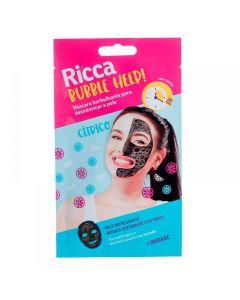 Máscara Facial Borbulhante Ricca - Preto