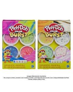 Massa De Modelar Play-Doh Color Burst Hasbro - E6966