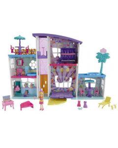 Mega Casa De Surpresas Da Polly Mattel - Gfr12 - Roxo
