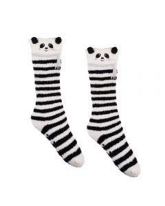 Meia Feminina 34 A 39 Cano Longo Panda Holla - Listrado