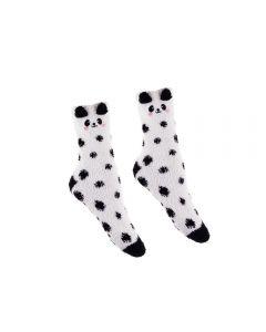 Meia Infantil 29 A 33 Cano Médio Panda Marmelada - Branco