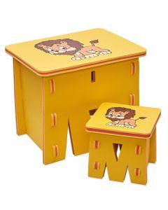 Mesa com 2 Banquetas E.V.A - Amarelo