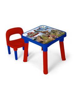 Mesa de Dinossauro com Cadeira Monte Líbano - MI5075 - Vermelho