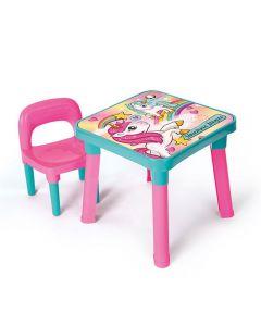 Mesa Unicórnio com Cadeira Monte Libano - MI5070 - Rosa