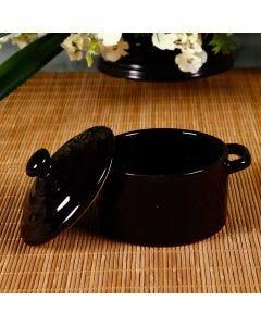 Mini Caçarola de Cerâmica - Scalla Cerâmica - PRETA