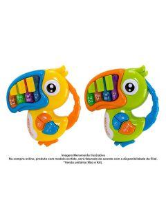 Mini Teclado Infantil Bichinho Musical - HBR0182