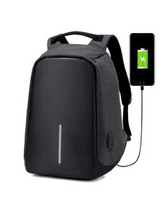 Mochila Anti Furto Impermeável com USB Integrado M2417P - Preto
