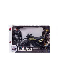 Moto E Boneco 514 Tático Bs Toys - Preto