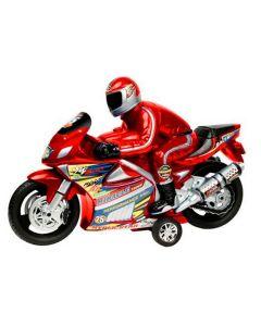 Moto Racer Fricção com Som Líder Brinquedos - Vermelho