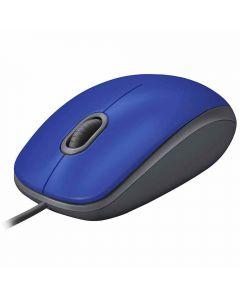 Mouse com Fio Silencioso M110 Logitech - Azul