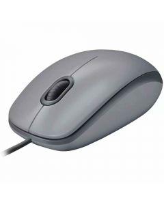 Mouse com Fio Silencioso M110 Logitech - Cinza
