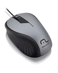 Mouse Emborrachado Com Fio USB Multilaser - Grafite