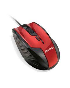 Mouse Multilaser Gamer Fire 1600Dpi USB Preto/Vermelho MO149 - DIVERSOS