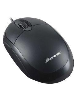 Mouse Óptico USB 800DPI Fortrek OML101 - Preto