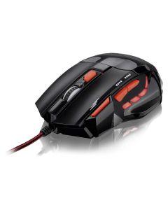 Mouse Óptico XGamer Multilaser Fire 2400DPI Preto e Vermelho - DIVERSOS