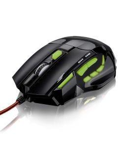 Mouse Óptico XGamer Multilaser MO208 Preto e Verde - Preto/Verde