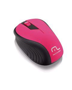 Mouse Sem Fio 2,4 GHz com USB Multilaser - Rosa/Preto