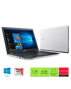 "Notebook Acer AMD Radeon R7 M440 4GB RAM 1TB HD 15.6"" Windows 10 - Branco"