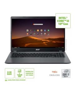 "Notebook Acer Aspire 3 15,6"" I5/8Gb/1Tb+128Ssd/Endless - Cinza"