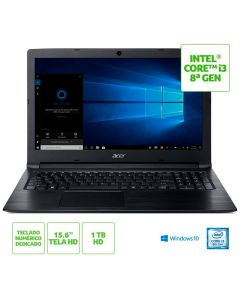 Notebook Acer Aspire 3 Intel Core i3 4GB/1TB/Windows 10 Acer - Preto