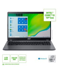 "Notebook Aspire 3 I3/4Gb/256Gb/Win10 15,6"" Acer - Cinza"