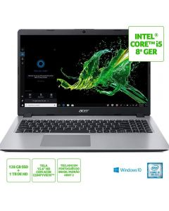 "Notebook Aspire 5 i5/8GB/1TB+128GB SSD/Win10 15,6"" Acer - Prata"