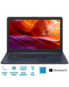 "Notebook Asus X543 Celeron/4GB/500GB/Win10 Tela 15,6"" - Cinza"
