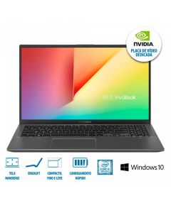 "Notebook VivoBook 15 i5/8GB/1TB/Win10 Tela 15,6"" X512FJ Asus - Cinza"