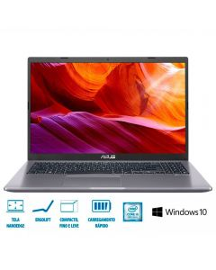 "Notebook X509 i5/8GB/1TB/Win10 15,6"" Asus - Cinza"
