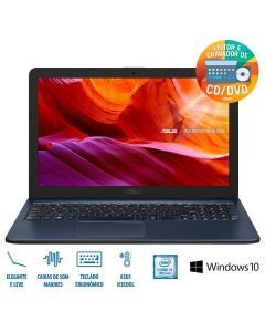 "Notebook X543UA i3/4GB/1TB/Win 10 Tela 15,6"" Asus - Cinza"