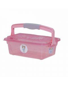 Organizador Infantil Com Alça 10 Litros Yoyo Baby - Rosa Claro