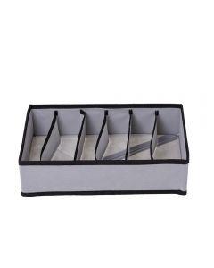 Organizador Para Lingerie 59Cm 6 Divisórias Flashlimp - Cinza
