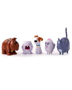 Pack 5 Figuras - Pets - Buddy Snowball Max Gidet e Chloe - Sunny - DIVERSOS