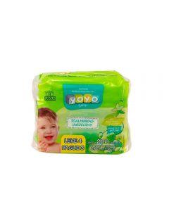 Pack Lenço Umedecido Yoyo Baby Leve 4 Pague 3 - Lenco Umedecido