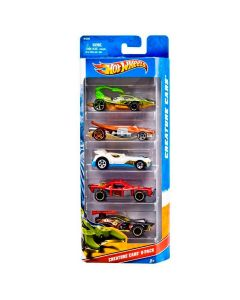 Mini Carrinhos Hot Wheels Kit com 5 Modelos Mattel - Sortido