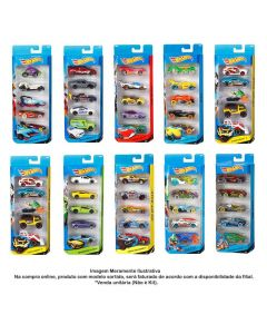 Mini Carrinhos Hot Wheels Kit Com 5 Modelos Mattel - 1806