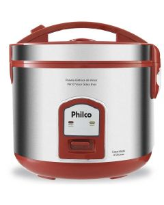Panela de Arroz Philco PH10V com Visor Glass Inox