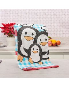 Pano de Copa Avulso Felpuda Primore Teka - Pinguins