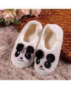 Pantufa Infantil Pandinha Marmelada - Branco 31-32