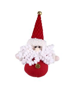 Papai Noel de Pendurar Vermelho Branco 12,7cm Havan - Vermelho