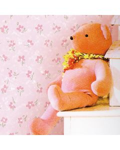 Papel De Parede 9,5M X 53Cm Havan - Flor Rosa Infantil FA 204-2