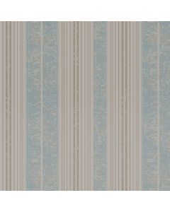 Papel de Parede 9,5m x 53cm Havan - Listrado Turquesa DS10205