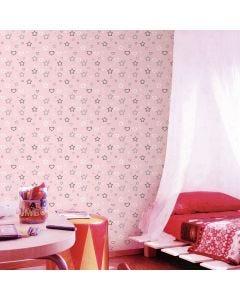 Papel de Parede 9,5m x 53cm Havan - Rosa Com Estrelas