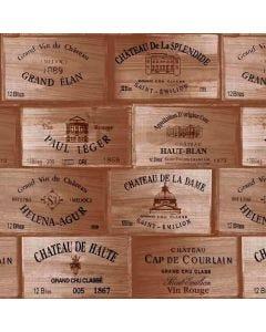 Papel De Parede Autocolante 0,53X9,5M Havan - Rótulo Caixa de Vinho