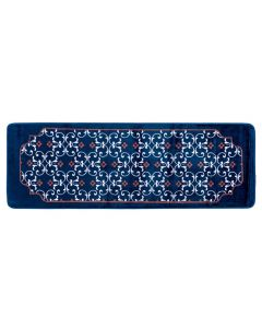 Passadeira Sevilha 60X1,80M Para Sala E Quarto  - Azul Marinho