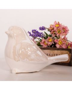 Pássaro Decorativo em Cerâmica Concepts Life - Bege