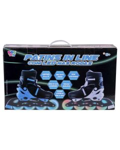 Patins In Line Com Led 36-39 BBR Toys - Azul