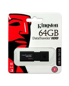 Pen Drive Usb 64Gb Datatraveler 100 G3 Kingston - Preto